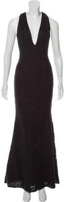 Carmen Marc Valvo Lace Evening Dress