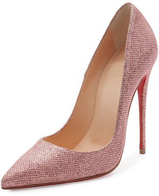 Christian Louboutin So Kate Glitter 120mm Red Sole Pump $695 thestylecure.com