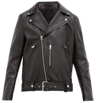 Acne Studios Nate Leather Biker Jacket - Mens - Black