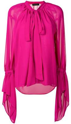 Christian Pellizzari oversized chiffon blouse
