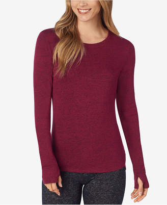 Cuddl Duds Soft Knit Long-Sleeve Crew-Neck Top