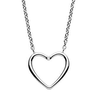 Skagen Women's Katrine Diamond-Accented Heart Pendant Necklace