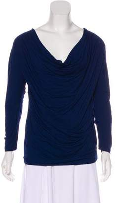 Donna Karan Cowl Neck Long Sleeve Top