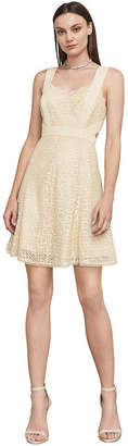 BCBGMAXAZRIA Alena Metallic Lace Dress
