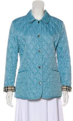 Burberry Quilted Snap Jacket