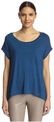 James & Erin Women's One Pocket High Low Tee