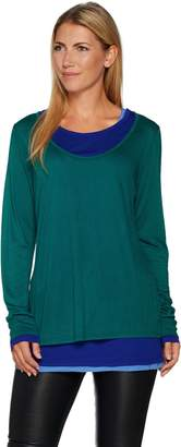 Kelly By Clinton Kelly Kelly by Clinton Kelly Jersey Knit Faux Layered Tee