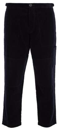 Oliver Spencer Judo Cotton Corduroy Cropped Trousers - Mens - Navy