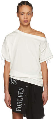 Ann Demeulemeester Off-White Off-the-Shoulder Elmer T-Shirt