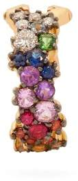A.N.A Khouri - Mirian 18kt Gold, Sapphire And Diamond Ear Cuff - Womens - Multi