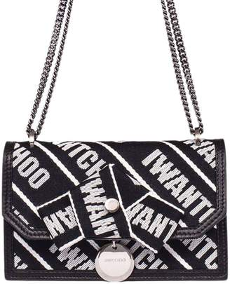 Jimmy Choo Mini Bag Finley Bag In Leather With Maxi Stripes And Chain Shoulder Strap