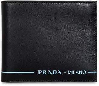 Prada Leather Wallet W/ Contrast Logo