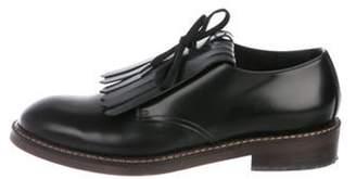 Marni Kiltie Leather Oxfords Black Kiltie Leather Oxfords
