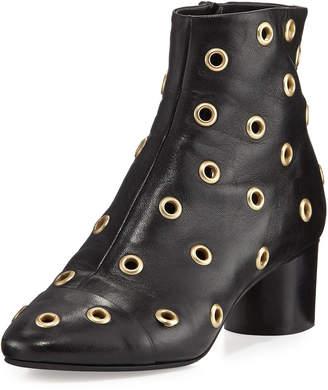 Isabel Marant Danay Studded Block-Heel Booties, Black