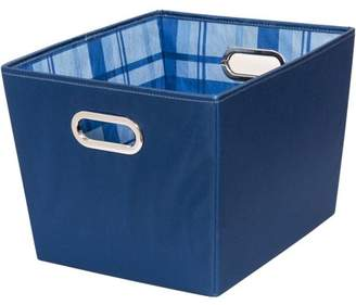Honey-Can-Do Medium Storage Bins with Handles, Blue (Pack of 2)