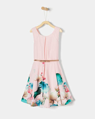 Ted Baker BELTEE Pistachio belted skater dress