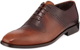Jared Lang Men's Antiqued Leather Lace-Up Dress Shoes
