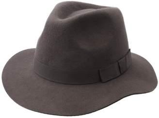 Brixton Women's Indiana Wool Felt Fedora Hat Size S