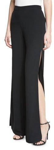 AlexisAlexis Brenda Wide-Leg Side-Slit Pants, Black