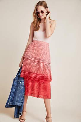 Maeve Brighton Tiered Midi Skirt