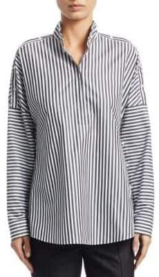 Akris Punto Long Sleeve Striped Blouse