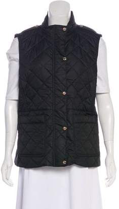 Burberry Quilted Snap-Front Vest w/ Tags