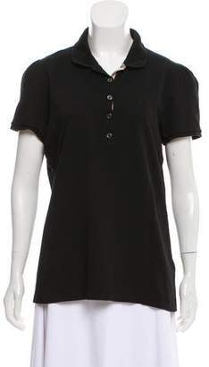 Burberry Collared Button-Up Top