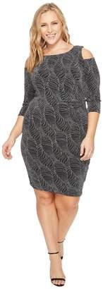 Sangria Plus Size Cold Shoulder Dress Women's Dress