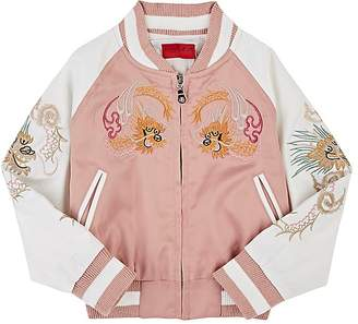 Wyatt Haus of JR Kids' Embroidered Tech-Satin Bomber Jacket