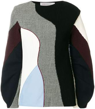 Victoria Beckham ribbed colour-block jumper