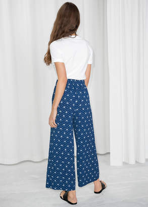 Flower Print Wide Trousers