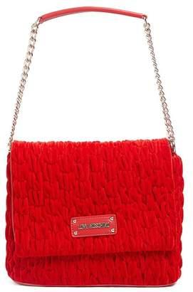 Love Moschino Velvet Gathered Shoulder Bag