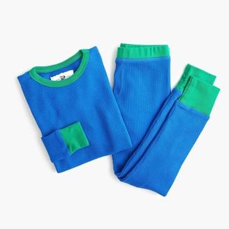 J.Crew Kids' waffle-knit pajama set