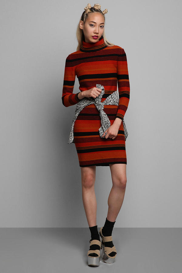 Vintage '70s Striped Sweater Dress