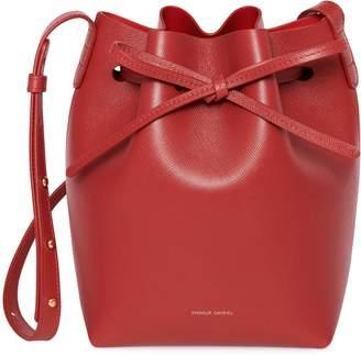 Mansur Gavriel Saffiano Mini Bucket Bag - Flamma