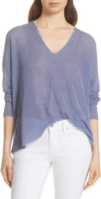 Eileen Fisher Boxy Cotton Blend Sweater