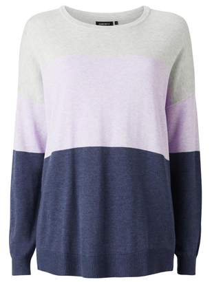 Jeanswest Kelly Colour Block Knit-Violet Marle Multi-M