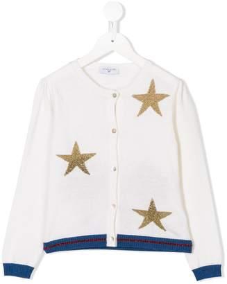 MonnaLisa star embroidered cardigan
