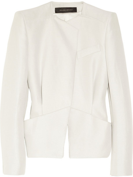 Roland Mouret Advina structured woven jacket
