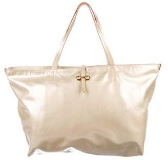 Salvatore Ferragamo Metallic Patent Leather Tote