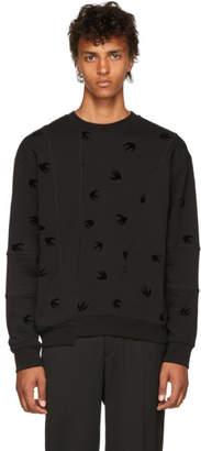 McQ Black Cutup Overlock Sweatshirt