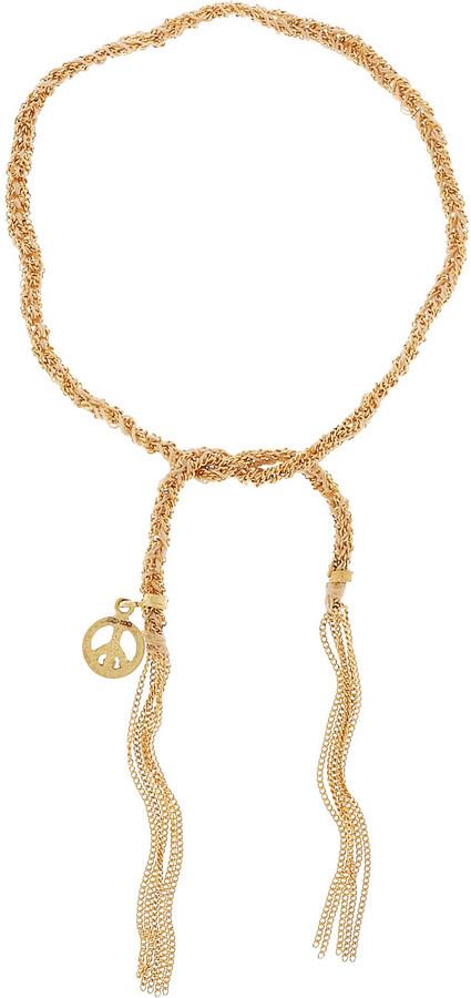 Carolina Bucci Lucky 18-karat gold and silk charm bracelet