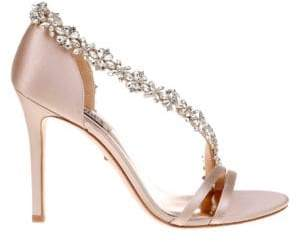 Badgley Mischka Violetta Embellished Satin Pumps