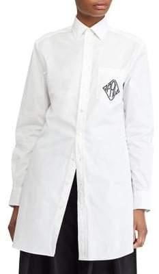 Polo Ralph Lauren Monogram Cotton Broadcloth Shirt Dress