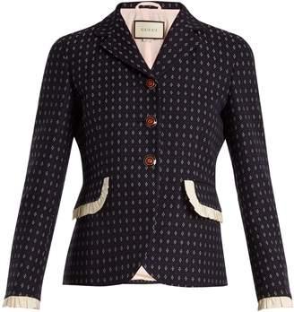 Gucci Geometric-pattern wool jacket