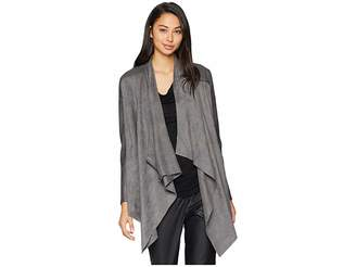 Blank NYC Drape Front Jacket in Stone Age