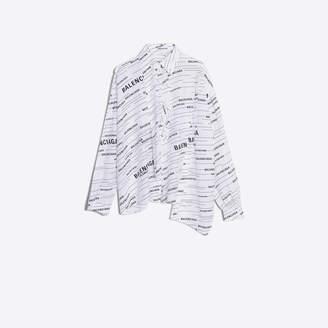 Balenciaga Allover print silk blouse