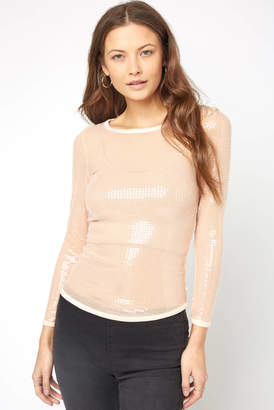 Free People Diamond Eyes Sequin Top