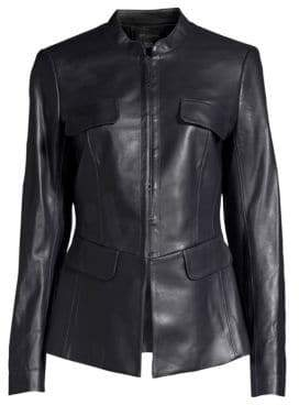 St. John Leather Corset Jacket