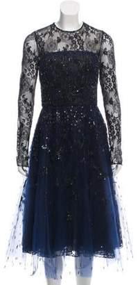 Oscar de la Renta 2016 Embellished Dress Navy 2016 Embellished Dress